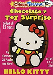 Hello Kitty Milk Chocolate Eggs with Toy Surprise!, Box 12 Count