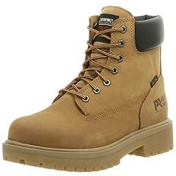 Timberland PRO Men\'s Direct Attach Six-Inch Soft-Toe Boot, Wheat Nubuck,9.5 W