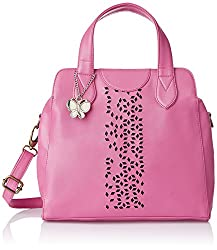Butterflies Women's Handbag (Pink) (BNS 0455 PK)
