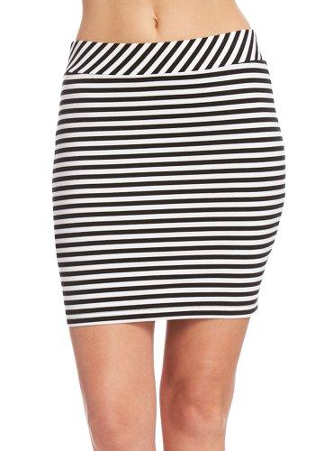 2B Stripe Ponte Pencil Skirt 2b Skirts Black/white-m Image