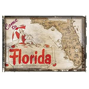 (13x19) Come to Florida Vintage Vacation Art Print Poster