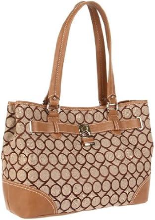 (疯抢)玖熙Nine West 9 Jacquard Shopper Satchel美女挎包 2色 $39.28
