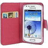 Rocina - Funda con función atril y tarjetero para Samsung S7562 Galaxy S Duos, color rosa