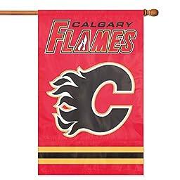 NHL 2-Sided Appliqué Banner Flag, Calgary Flames