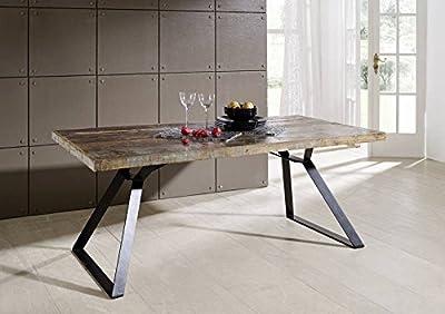 Altholz lackiert Industrial Stil Tisch 180x90 Massivmöbel Eisen massiv Holz Industrial #13