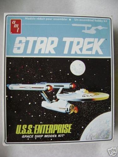 1968 Original Issue Star Trek U.S.S. Enterprise Space Ship Model Kit By Amt
