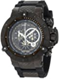 Invicta Men's 6043 Subaqua Collection Noma III Chronograph Black Ion-Plated and Rubber Watch