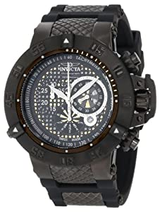 Invicta Men's 6043 Subaqua Collection Noma III Chronograph Black Ion-Plated and Rubber Watch at Sears.com