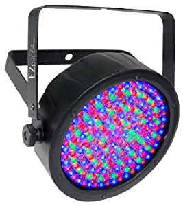 Chauvet Lighting EZpar64 RGBA Black Battery Operated Par Style LED Wash with IRC Compatibility - Black