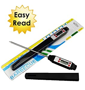 Digital Meat & Food Thermometer - Wireless - Great for BBQ - Grilling - Instant Easy... by Accu-Read
