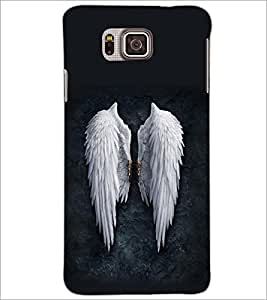 PrintDhaba Feathers D-2093 Back Case Cover for SAMSUNG GALAXY ALPHA (Multi-Coloured)