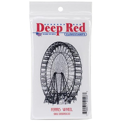 Deep Red Stamps Ferris Wheel Rubber Stamp - 1
