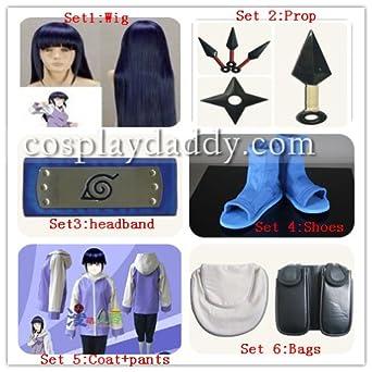 Naruto Shippuden Hinata Hyuga Cosplay Costume 10 Piece
