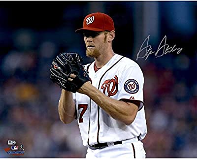 "Stephen Strasburg Washington Nationals Autographed 16"" x 20"" Horizontal Glove Near Face Photograph - Fanatics Authentic Certified"