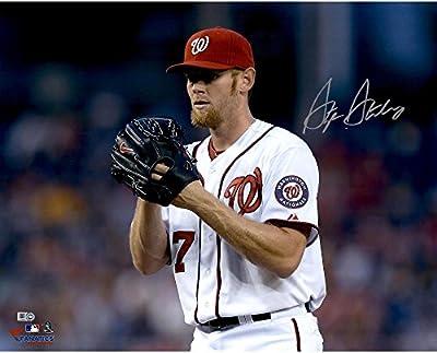"Stephen Strasburg Washington Nationals Autographed 16"" x 20"" Horizontal Glove Near Face Photograph - Fanatics Authentic Certified"