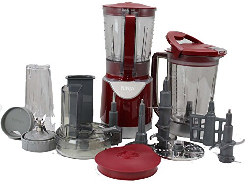 Ninja BL207 Extreme Kitchen System Pulse Blender with Accessories - Red
