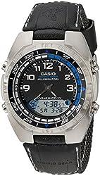 Casio Men's AMW700B-1AV Ana-Digi Forester Fishing Timer Watch