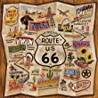 27W x 27H Route 66 by Karen Dupre - Stretched Canvas w/ BRUSHSTROKES