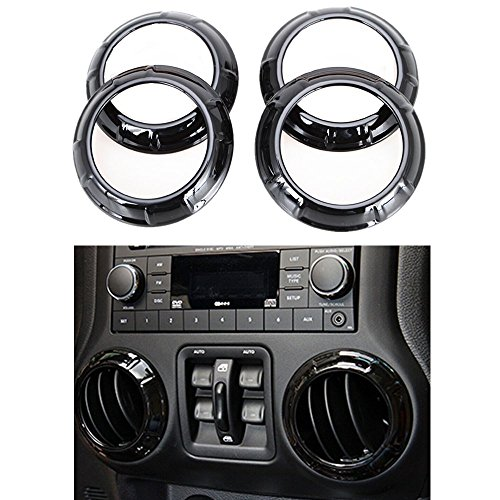 New Interior Accessories Black Decoration Trim For Jeep Wrangler 4 Door 2011-2015 (For Air Conditioning Vent) (13x7 Air Vents compare prices)