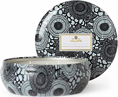 Voluspa Japonica French Cade Lavender 12 Oz 3 Wick Decorative Tin Scented Candle from Voluspa