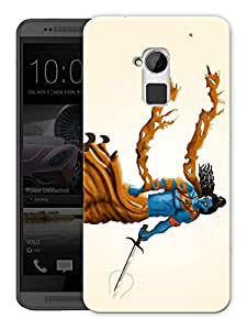 "Humor Gang Shiva Angry Hindu God Printed Designer Mobile Back Cover For ""HTC ONE MAX"" (3D, Matte, Premium Quality Snap On Case)"