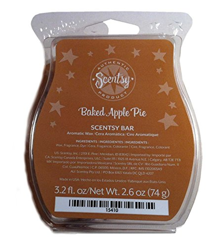 Scentsy Baked Apple Pie Wickless Candle Tart Warmer Wax, 3.2 fl oz (Wax Melt Candle Warmer compare prices)