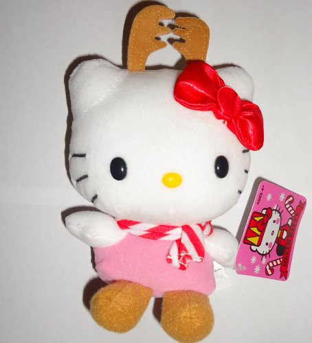 Hello Kitty Reindeer Holiday 2013 Toy Plush 5 Inch by Jakks Pacific