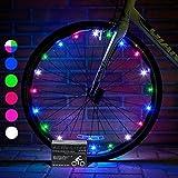 Activ Life LED Bicycle Wheel Lights (1 Tire, Rainbow) Best Xmas Gifts for Kids - Top Secret Santa X-mas of 2018 Popular Children Bike Toys - Hot Child Bday Party Outdoor Family Fun Regalos de Navidad (Color: Rainbow, Tamaño: 1-Wheel)
