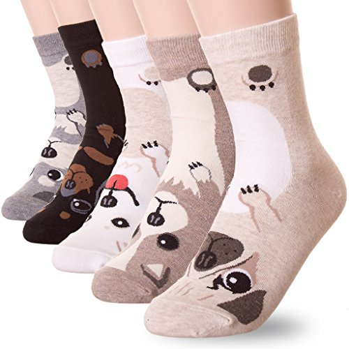 puppy-dog-print-crew-socksone-sizeus-shoes-size-5-to-105-pairs