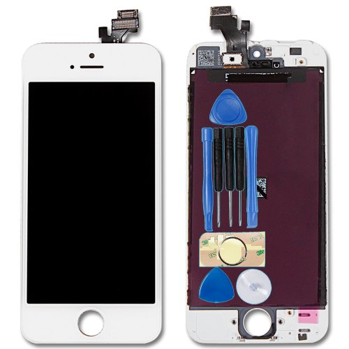 White Iphone 5 5G Touch Screen Digitizer + Lcd Display Replacement Part Full Set With Tool Kit