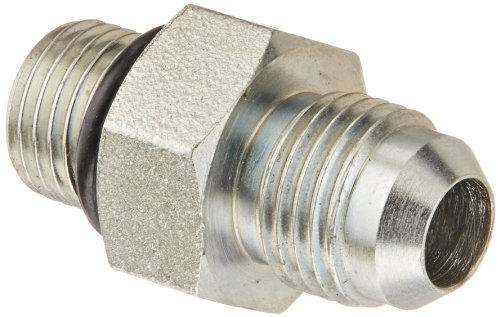 """Eaton Aeroquip Gg106-Np06-06 Male Connector, Retaining Ring, O-Ring, Male 37 Degree Jic, Male Bspp, Jic 37 Degree & Bspp End Types, Carbon Steel, 3/8 Bspp(M) X 3/8 Jic(M) End Size, 3/8"""" Tube Od"""