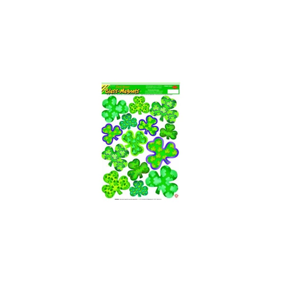 St Patricks Day Irish Mood Shamrock Window Clings Toys