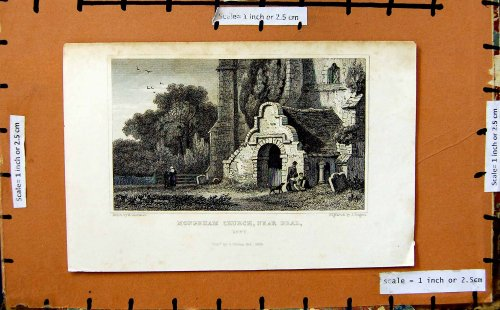 1829 View Mongeham Church Deal Kent England Print