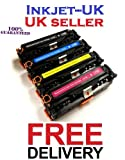 1 Compatible Set of 4 Laser Toner Cartridges to replace HP CF210X, CF211A, CF212A, CF213A (131X & 131A) - Black / Cyan / Yellow / Magenta for use with HP LaserJet Pro 200 Color M251n, M251nw, MFP M276n, MFP M276nw