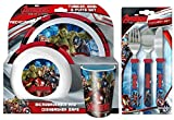 Marvel Avengers Age of Ultron 6-Piece Dinner Set | Dinnerware | Tableware | Featuring Iron Man, Hulk, Thor and Captain America