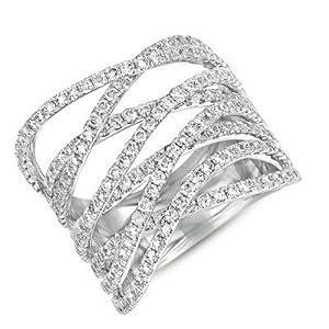 14k White Gold Diamond Ring - JewelryWeb