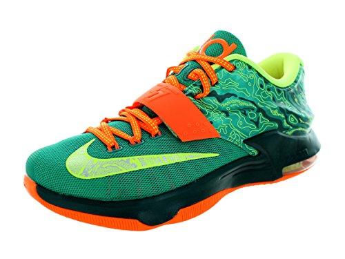 Nike Men's KD VII Emrld Grn/Mtllc Slvr/Dk Emrld Basketball Shoe 10