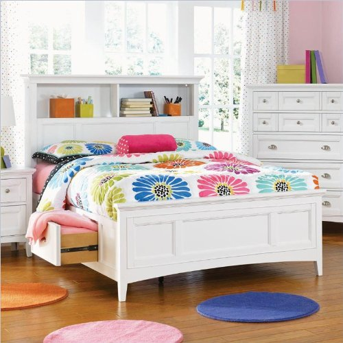 Magnussen Kenley Bookcase Bed With Optional Storage In White - Twin
