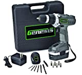 Home Improvement - Genesis GCD18BK 18v Cordless Drill/Driver Kit, Grey