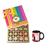 Divine Treat To Your Love With Love Mug - Chocholik Belgium Chocolates