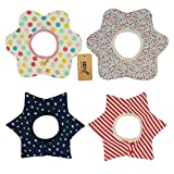 iZiv(TM) Baberos del Bebé - Paquete de 4 Diseños con 4 Capas Impermeables para niño 0-3 años (Color-6)