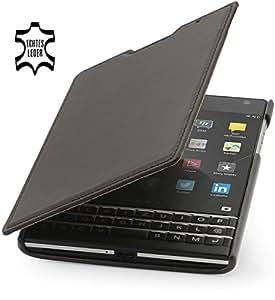 StilGut® Book Type, Genuine Leather Case for BlackBerry Passport, Mahogany Brown - Nappa