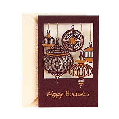 3 pc einfache weinlese kunst weihnachtskarten segen. Black Bedroom Furniture Sets. Home Design Ideas