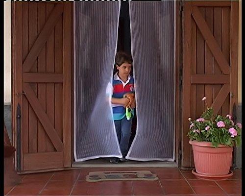 Tenda zanzariera magnetica bianca 240x140cm x porte - Zanzariere magnetiche per finestre ...
