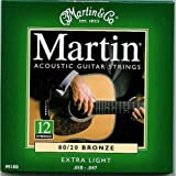 Martin 80/20 12 Acoustic Guitar Strings(12 String) - Bronze (Extra Light, .010 - .047)
