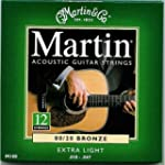 Martin 80/20 12 Acoustic Guitar Strin...
