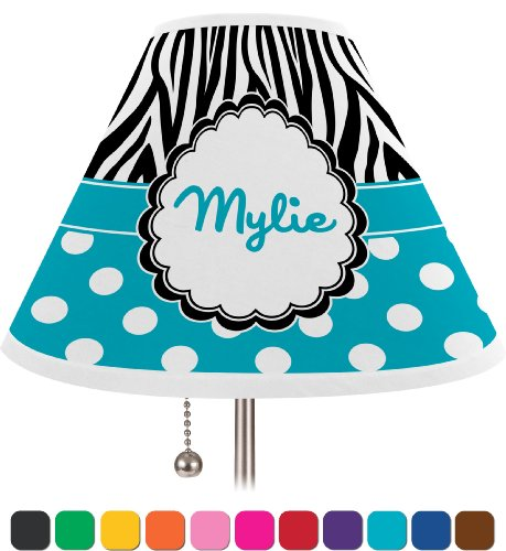 Dots & Zebra Personalized Lamp Shade - Coolie Shade front-192224