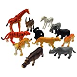 Lucky Zone Wild Animals - 12 Piece Set (Multi Color)