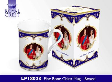 Royal Wedding Bone China Mug, Royal Couple- Prince William & Catherine