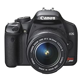 The Electronics World | Canon Digital Rebel XSi 12.2 MP Digital SLR Camera with EF-S 18-55mm f/3.5-5.6 IS Lens (Black)